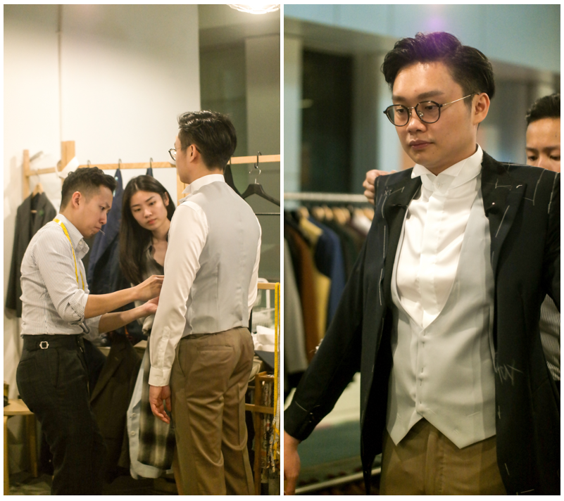 tailoring fitting session