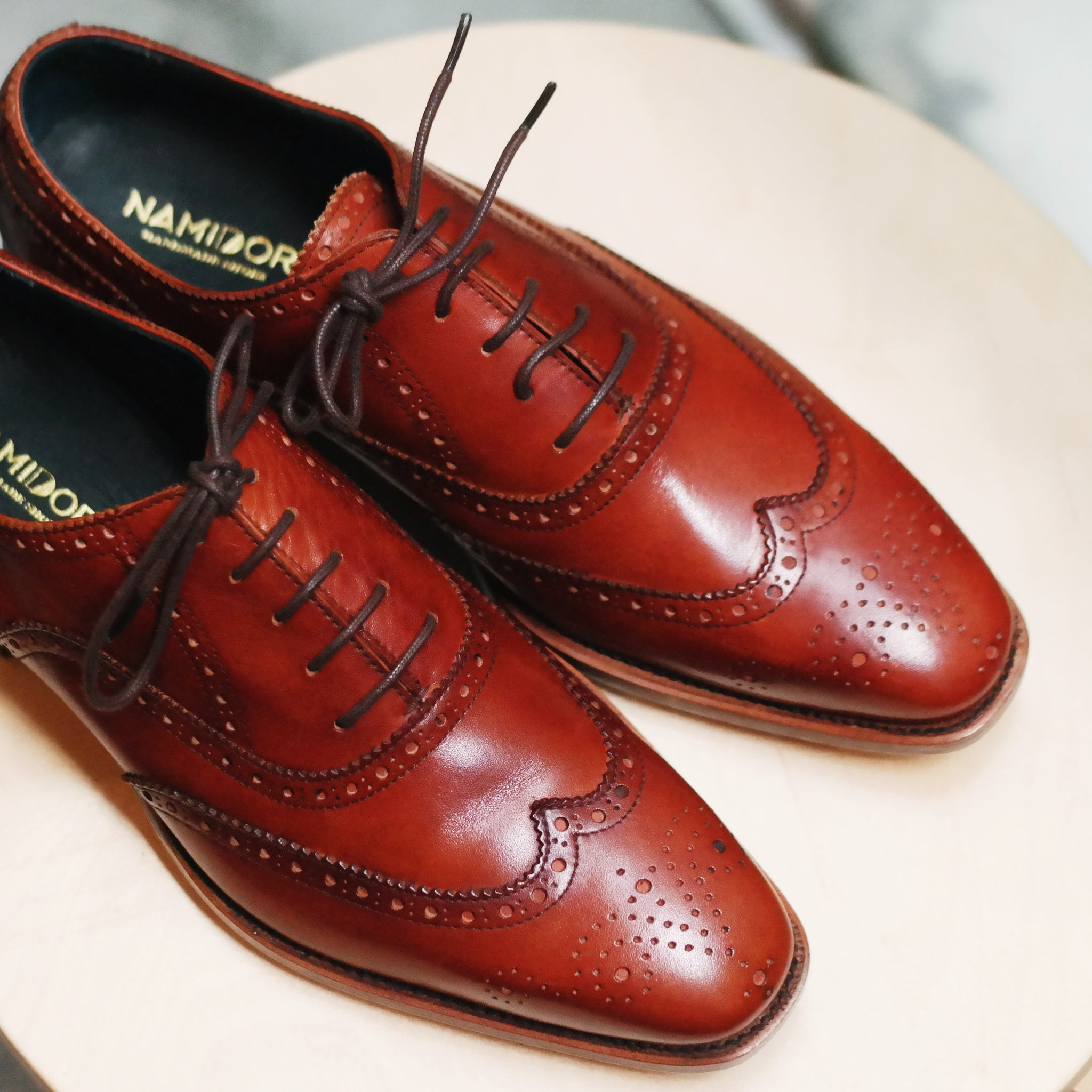 namidori singapore leather shoes brogue