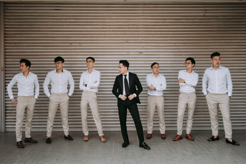 assemble singapore co-founders wedding suit
