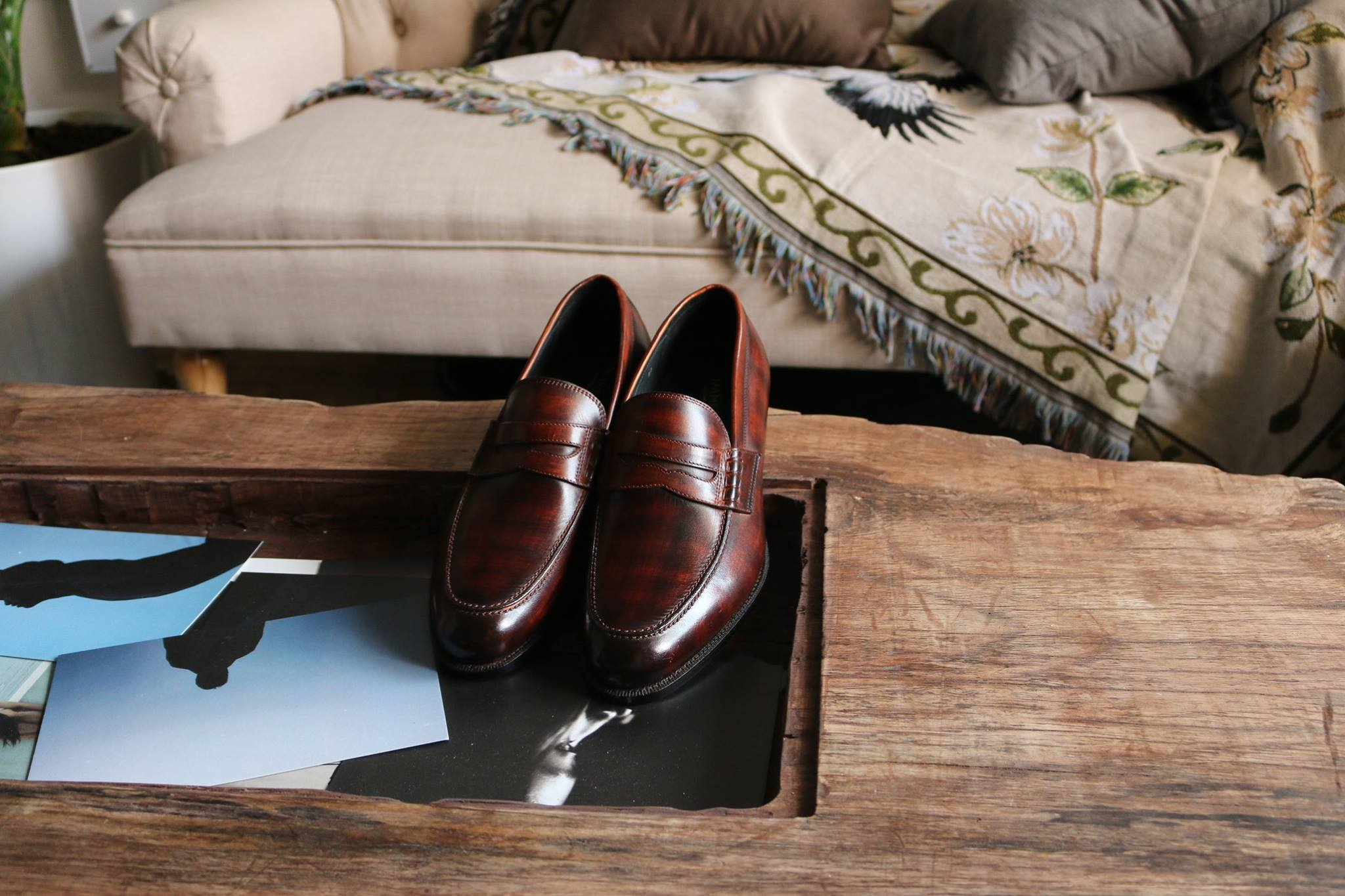 namidori leather shoes loafers