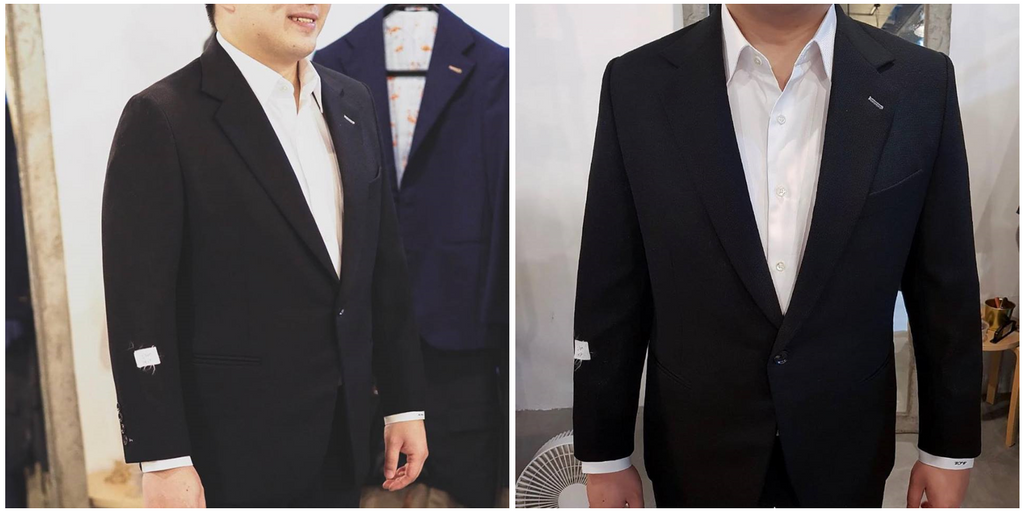 one button suit jacket