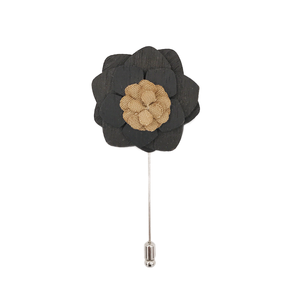 Black Dahlia Lapel Pin