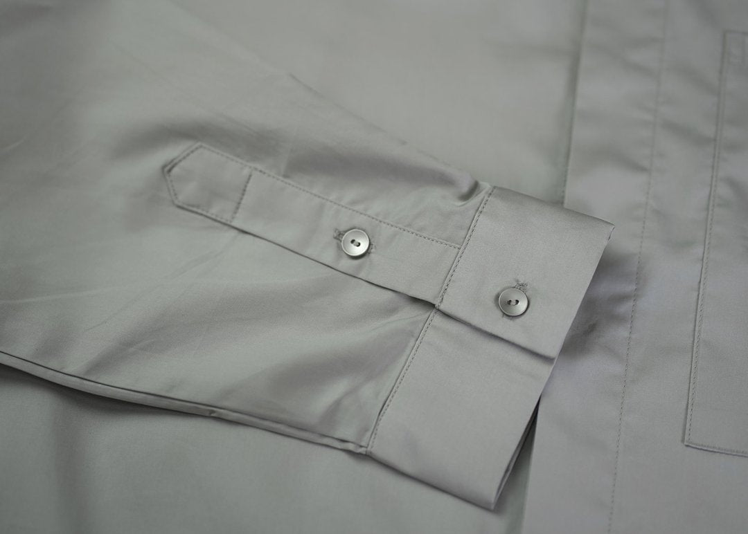 Knot Button Shirt - Stone Grey