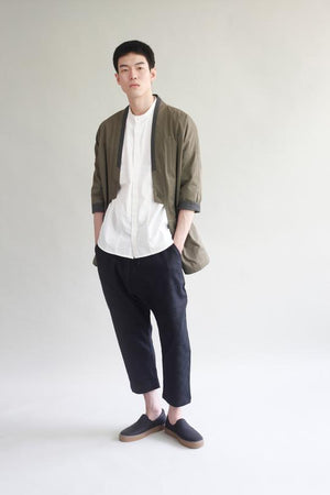Checked Linen Trousers