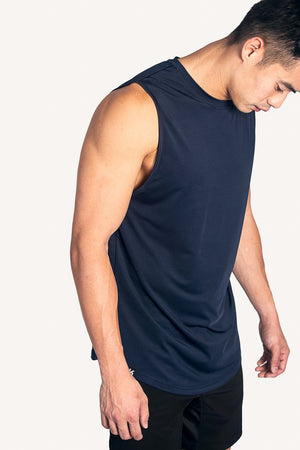 Kydra Male Curved Hem Tank