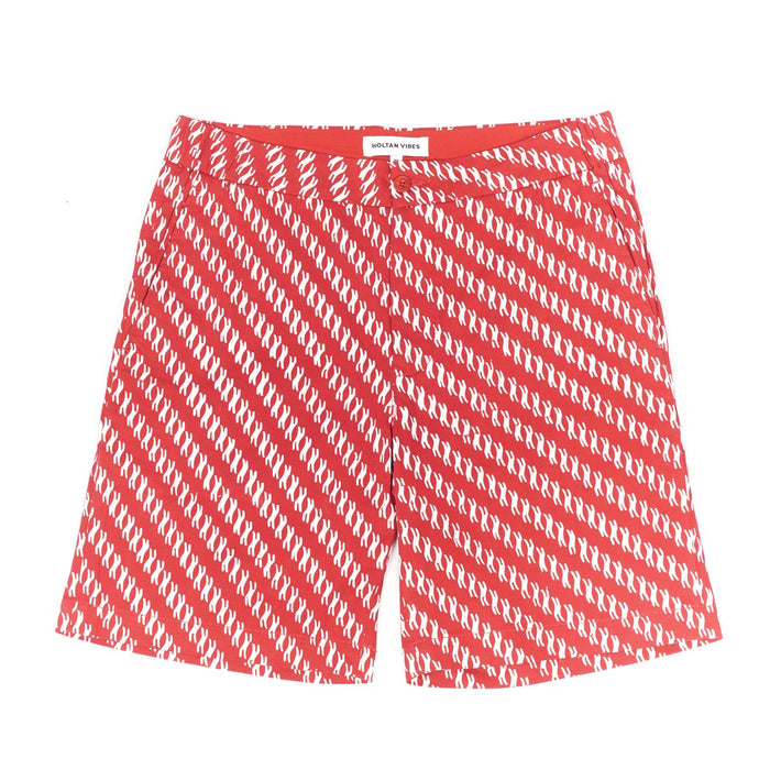 TOFFEE RED RELAXED HUXLEY SHORTS