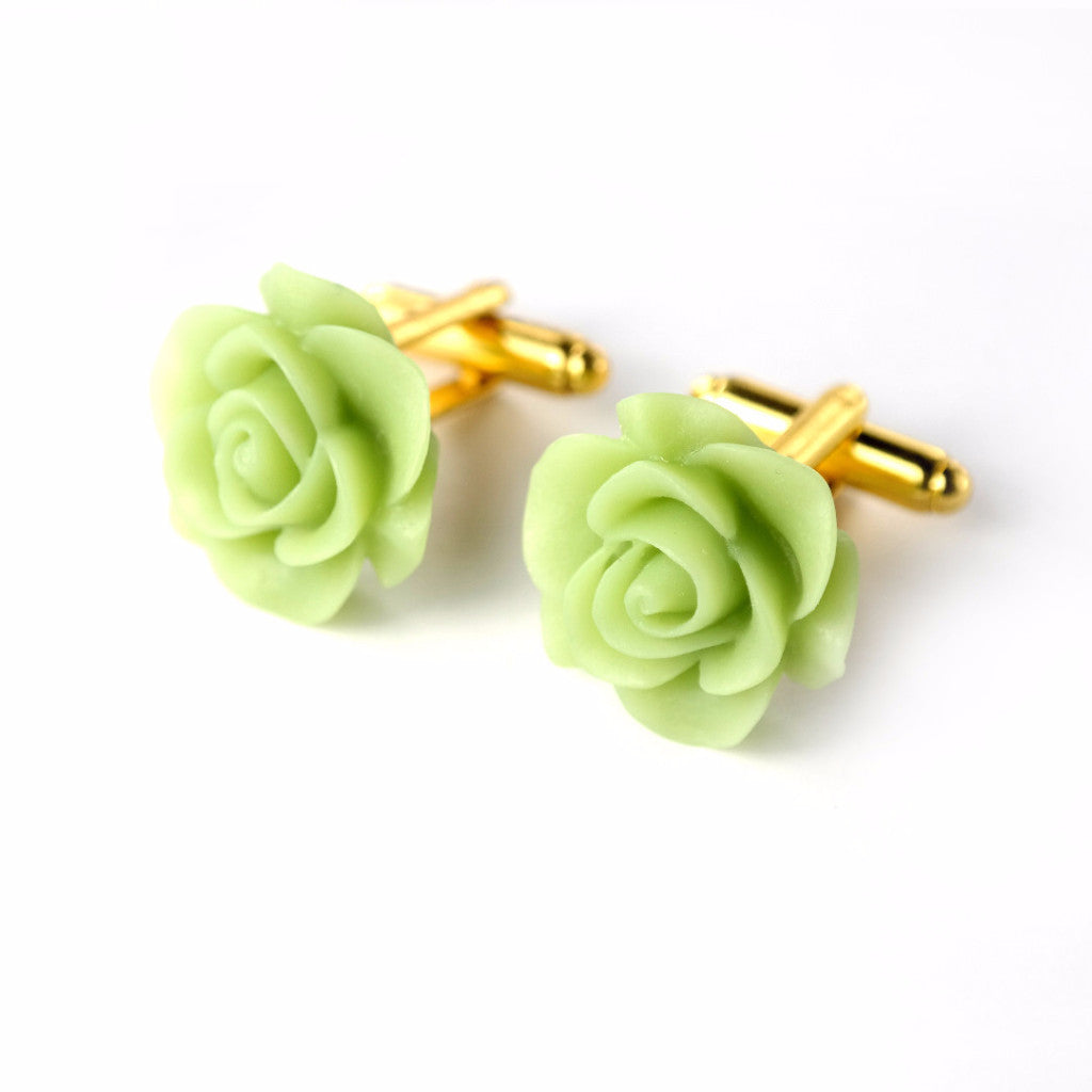 Cauli Resin Cufflinks - Jade