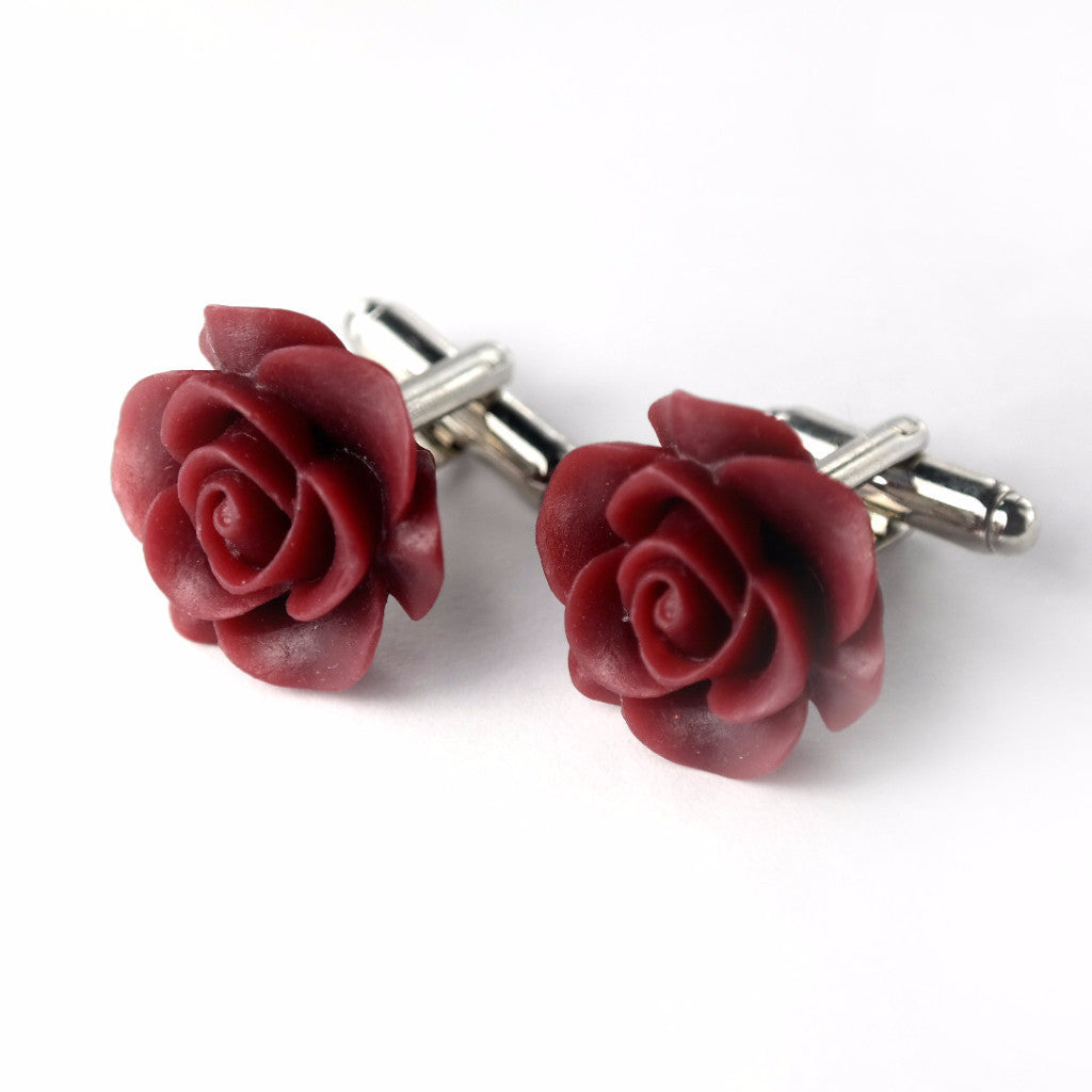 Cauli Resin Cufflinks - Maroon