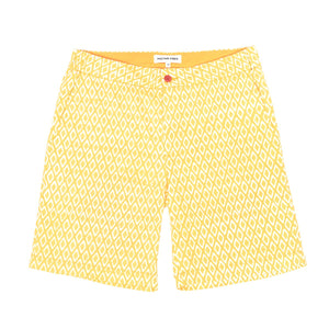 NAPLES YELLOW RELAXED RUSSELL SHORTS