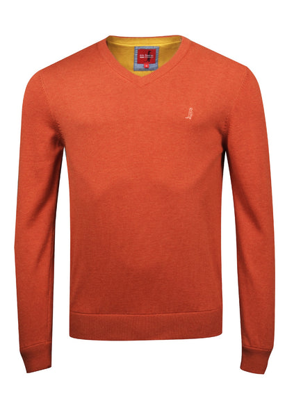 V-neck Cotton Knitwear