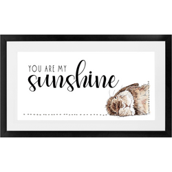 You Are My Sunshine | Woodland Animal Nursery Art | Baby Bunny Print | Nursery Wall Art Decor | Kids Room Framed Art Print by Suzanne Anderson