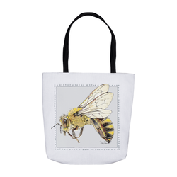 Beebop the HoneyBee Tote Bags by Suzanne Anderson
