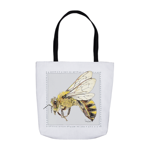 Beebop the HoneyBee #beekind Tote Bags by Suzanne Anderson