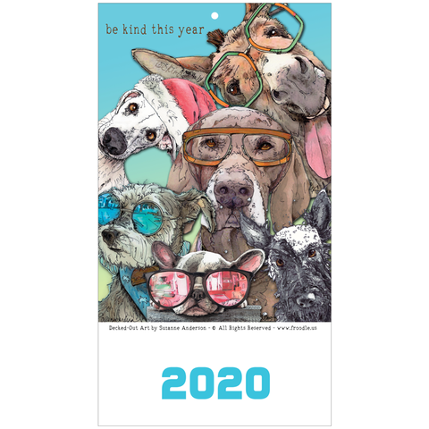2020 Whimsical Dog Wall Calendar with Dog Holidays by Suzanne Anderson