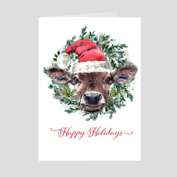 Chipper the Cow Holiday Folded Cards