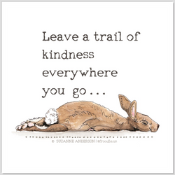 Leave a Trail of Kindness Quote Sticker