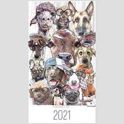 2021 Wall Calendar with Dogs | Alpacas | Chickens | Bunnies