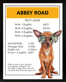 Chihuahua | Monopoly Art | Girls Room Decor | Abbey Road | Art Print By Suzanne Anderson