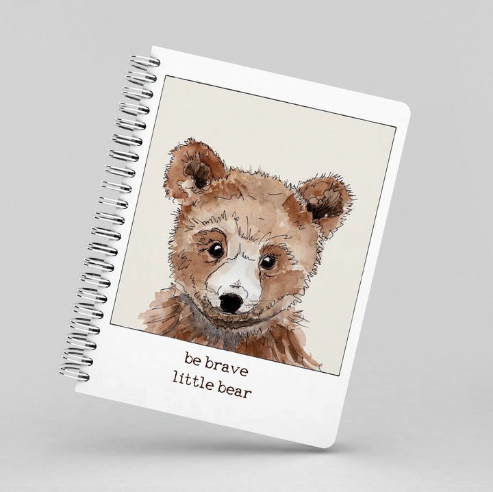 Be Brave Little Bear Notebook