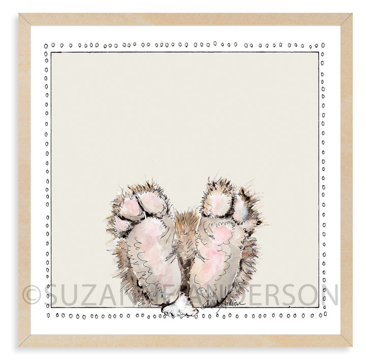 Bunny Feet | Woodland Animals | Baby Room | Nursery Art | Print By Suzanne Anderson