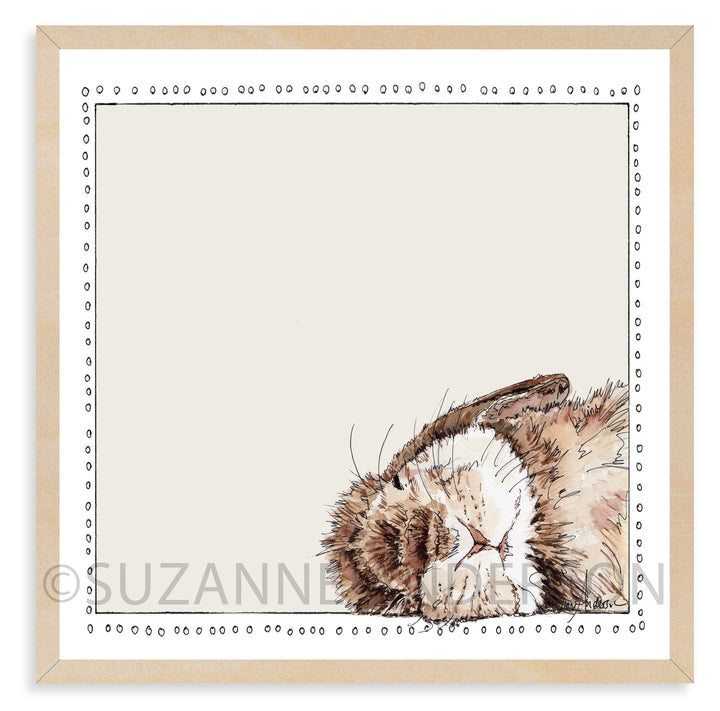 Sleepy Bunny | Woodland Animals | Baby Room | Nursery Art | Print By Suzanne Anderson
