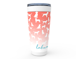 Lab mom for life Coral drink tumbler
