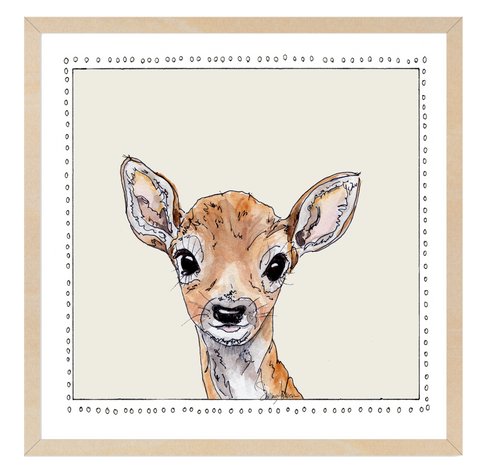 Baby Deer | Woodland Animals | Baby Boy Room | Nursery Art | Print By Suzanne Anderson