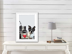 Boston Terrier Puppy Dior Art Print