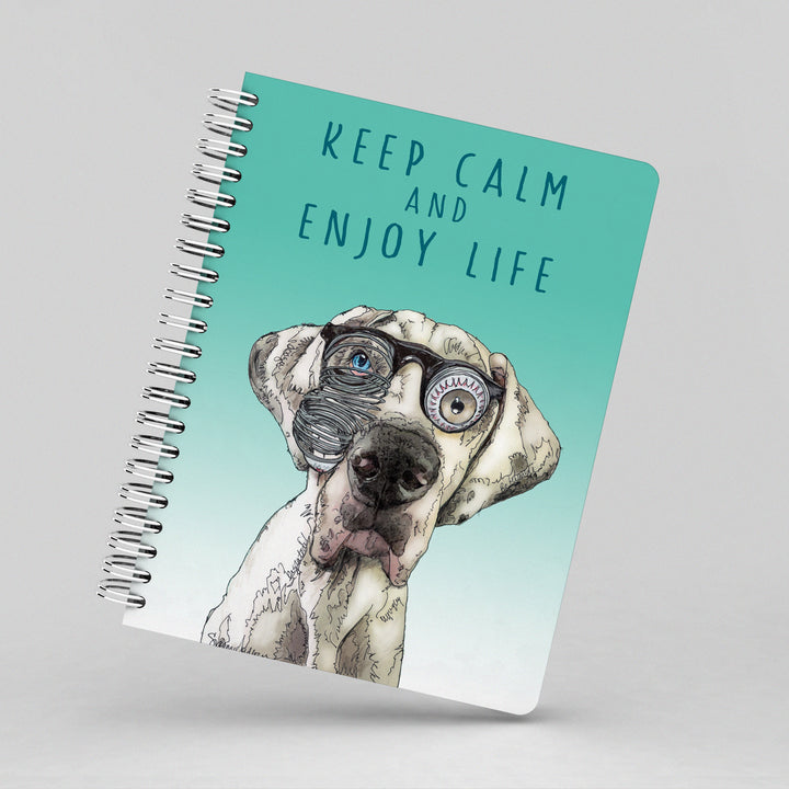 Keep Calm and Enjoy Life Notebook by Suzanne Anderson