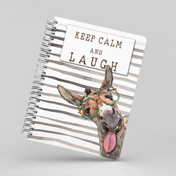 Keep Calm and Laugh with Dudley Notebook By Suzanne Anderson