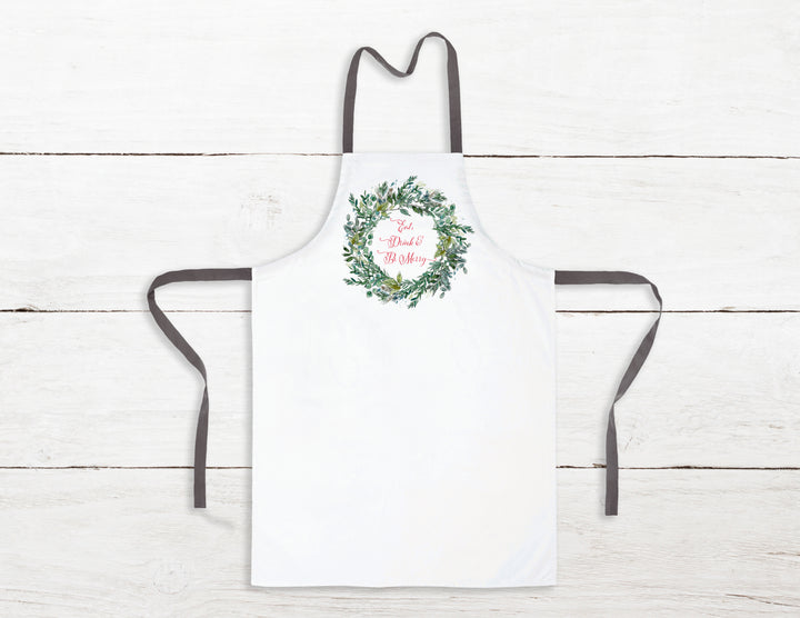 Eat, Drink & Be Merry Holiday Apron