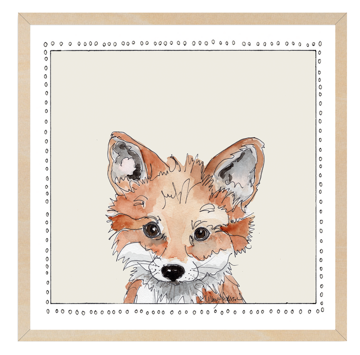 Baby Fox | Woodland Animals | Baby Boy Room | Nursery Art | Print By Suzanne Anderson