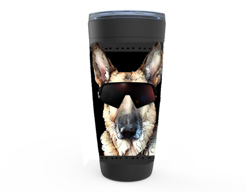 German Shepherd drink tumbler