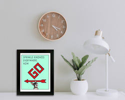 Pass Go | Family Room Decor | Kids Room Decor | Monopoly Art | Art Print By Suzanne Anderson