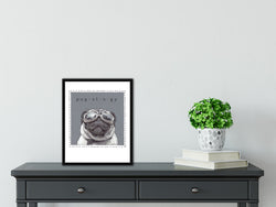 Kirby The Pug Art Print By Artist Suzanne Anderson - Froodle LLC