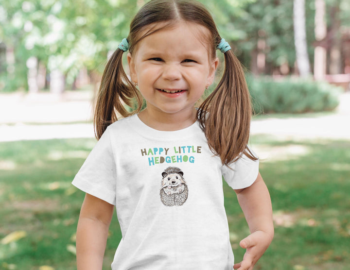 Happy Little Hedgehog T-Shirts (Toddler Sizes)