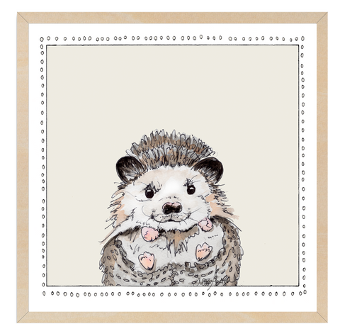 Baby Hedgehog | Woodland Animals | Baby Boy Room | Nursery Art | Print By Suzanne Anderson