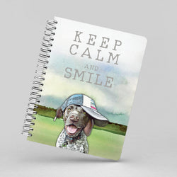 Hogan the GSP Says to Keep Calm Notebook By Suzanne Anderson