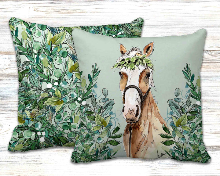 Sweet Caroline Horse Throw Pillow