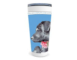 Black Lab drink tumbler