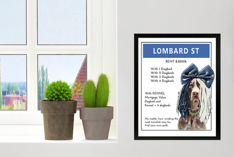 German Short Hair Pointer (GSP) | Monopoly Art | Girls Room Decor | Lombard Street | Art Print By Suzanne Anderson
