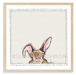 Peek-a-Boo Bunny | Woodland Animals | Baby Room | Nursery Art | Print By Suzanne Anderson