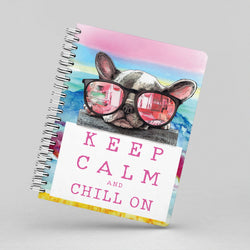 French Bull Dog Puppy Chilling Out Notebook By Suzanne Anderson