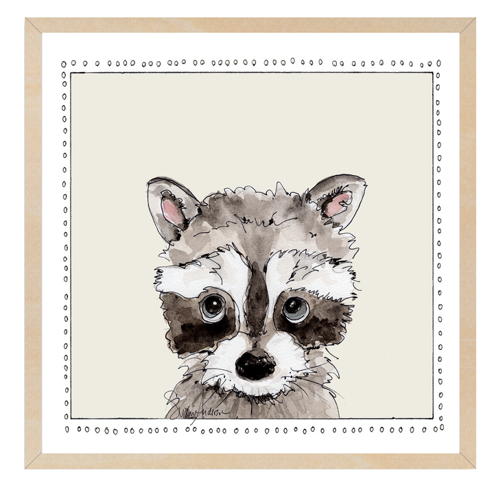 Baby Raccoon | Woodland Animals | Baby Boy Room | Nursery Art | Print By Suzanne Anderson