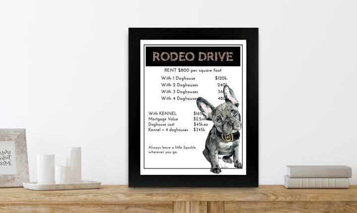 Rodeo Drive | Monopoly Art | Girls Room Decor | Art Print By Suzanne Anderson