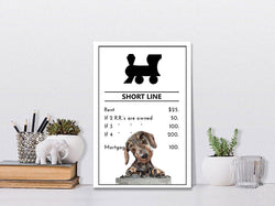 Short Line Railroad | Monopoly Art | Kids Room Decor | Train Art | Art Print By Suzanne Anderson