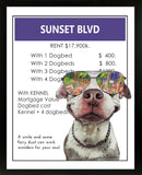 Pit Bull (Pittie) | Monopoly Art | Girls Room Decor | Sunset Boulevard | Art Print By Suzanne Anderson