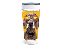 Pointer drink tumbler with quote