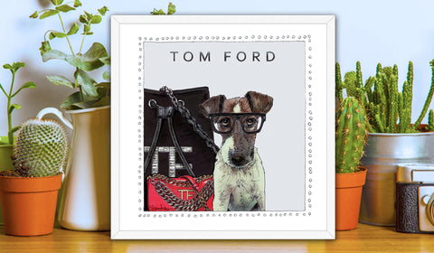 Jack Russell | Fashion Art | Designer Bags | Girls Room Decor | Tom Ford Bags | Art Print by Suzanne Anderson