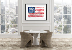 USA Dedicated Flag Framed Prints by Suzanne Anderson